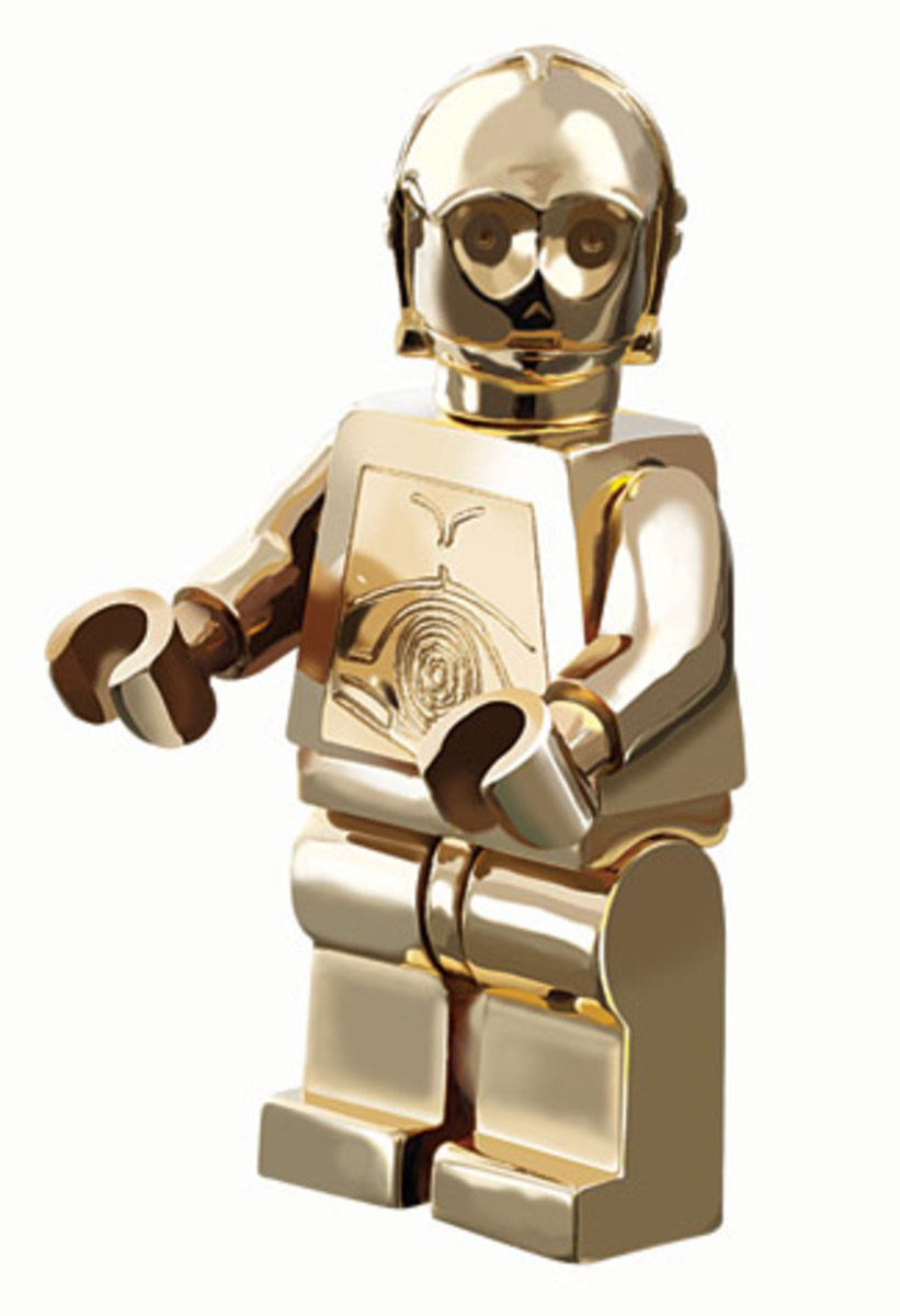 LEGO Star Wars C-3PO Gold Chrome Plated 4521221 Minifigure