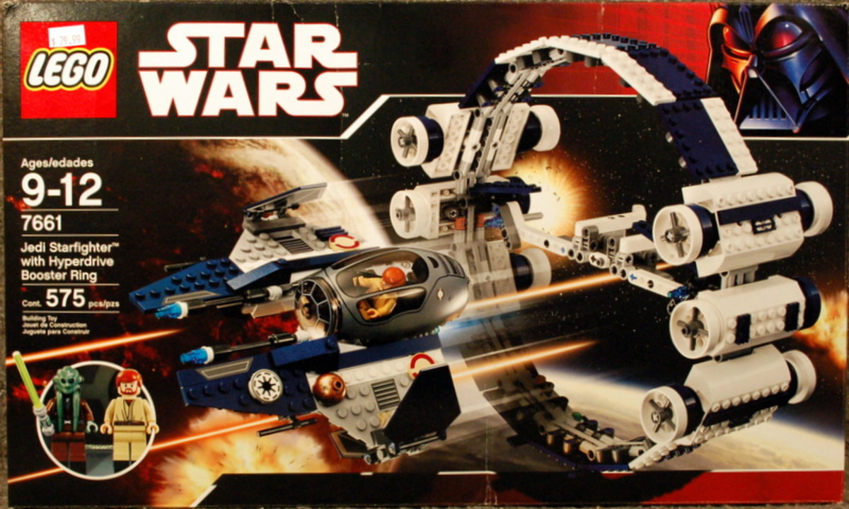 LEGO Star Wars Jedi Starfighter & Hyperdrive Booster Ring 7661 Box