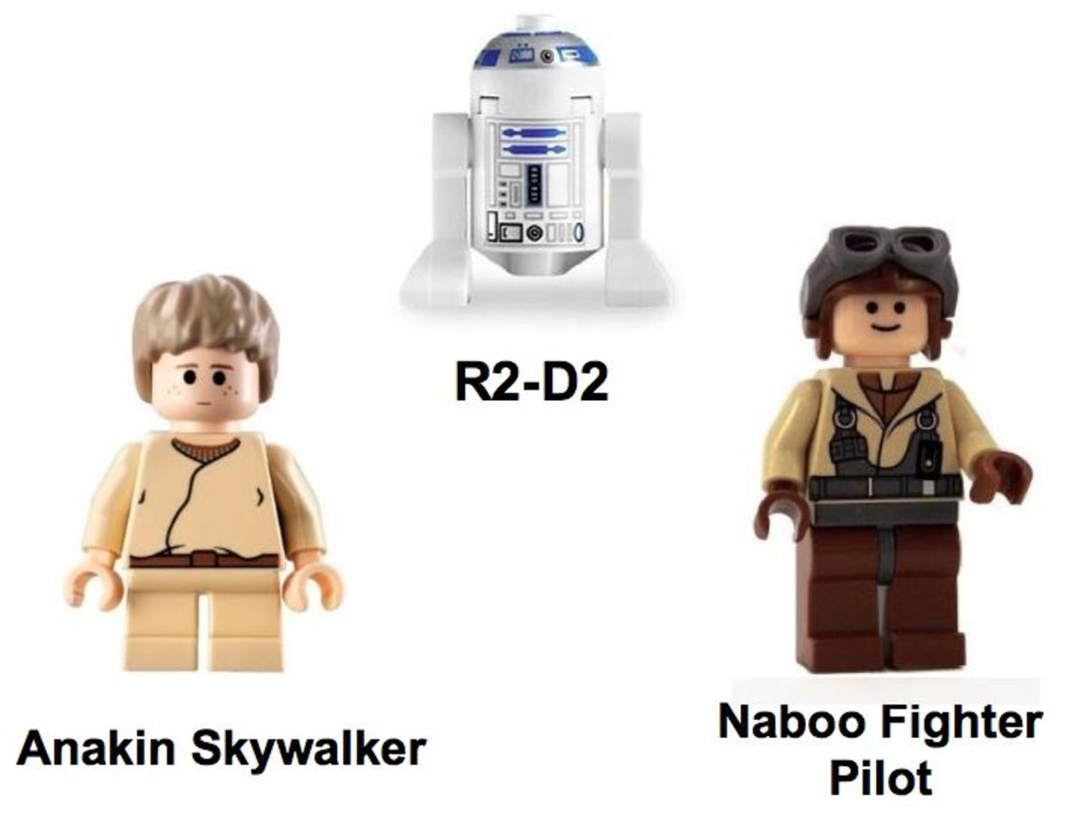 LEGO Star Wars Naboo N-1 Starfighter & Vulture Droid 7660 Minifigures