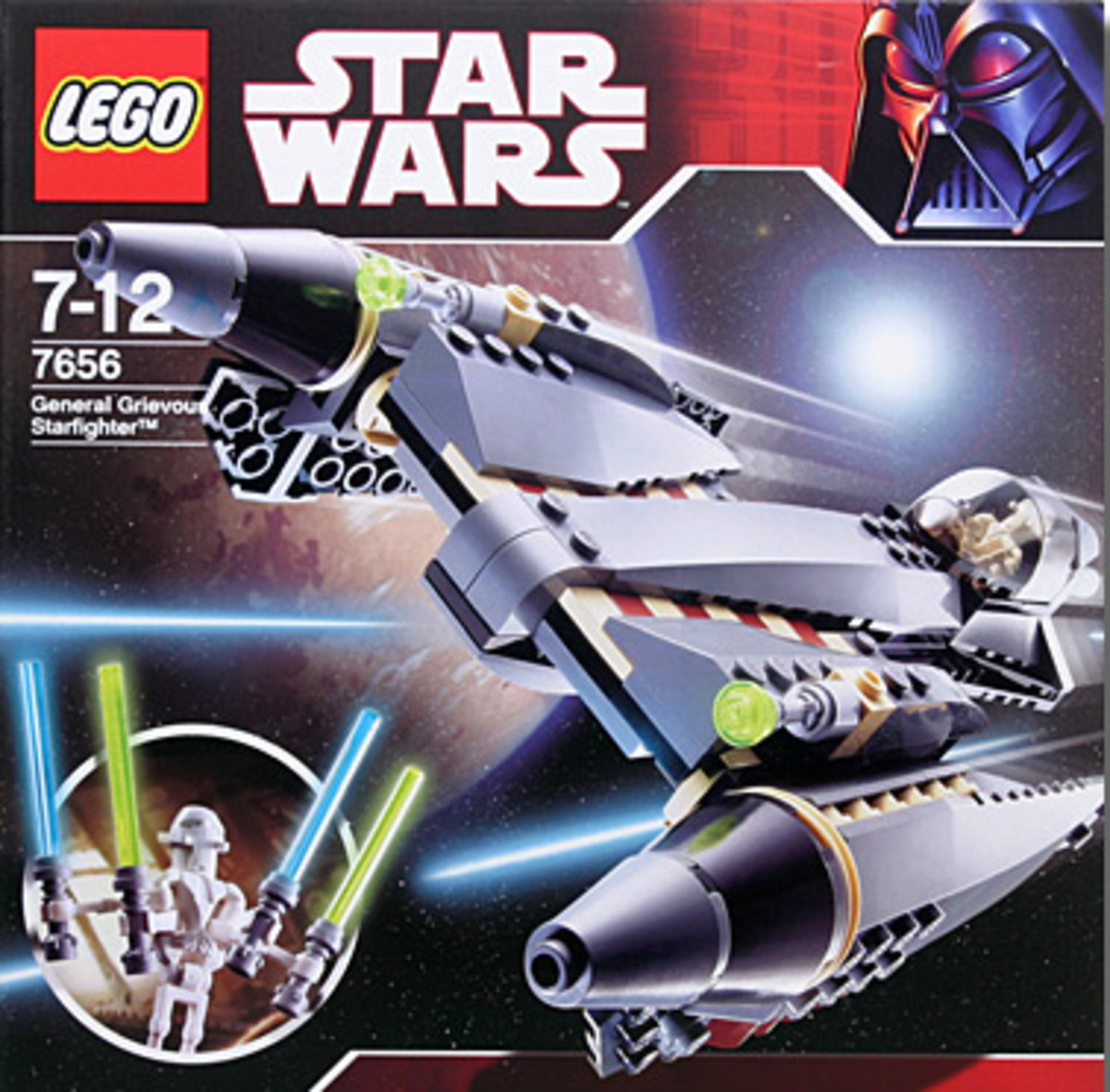 LEGO Star Wars General Grievous Starfighter 7656 Box