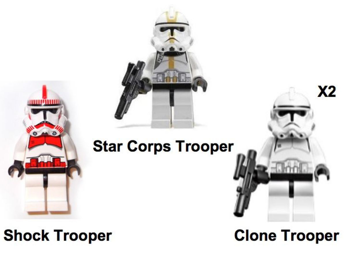 LEGO Star Wars Clone Trooper Battle Pack 7655 Minifigures