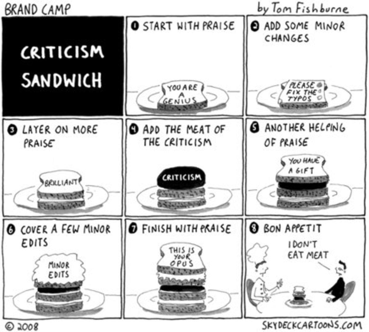 Feedback Sandwich © Tom Fishburne