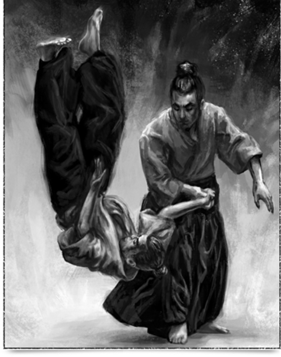 Illustration of an Aikido Technique.