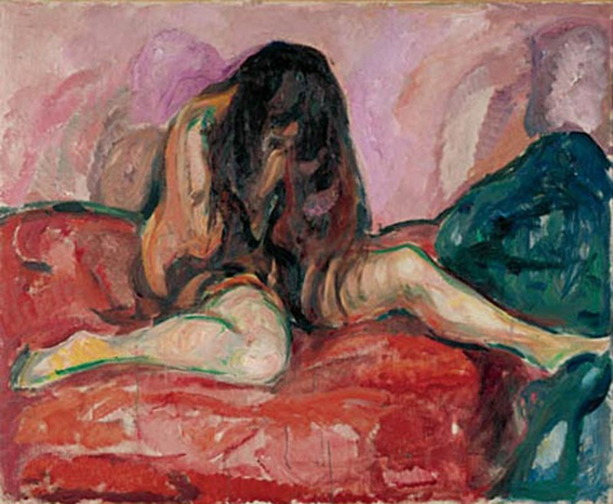 'Weeping' by Edvard Munch