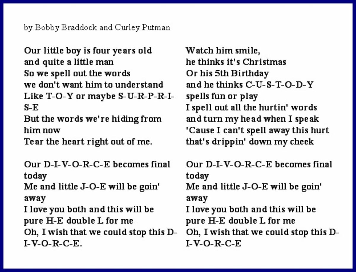 D-I-V-O-R-C-E Lyrics