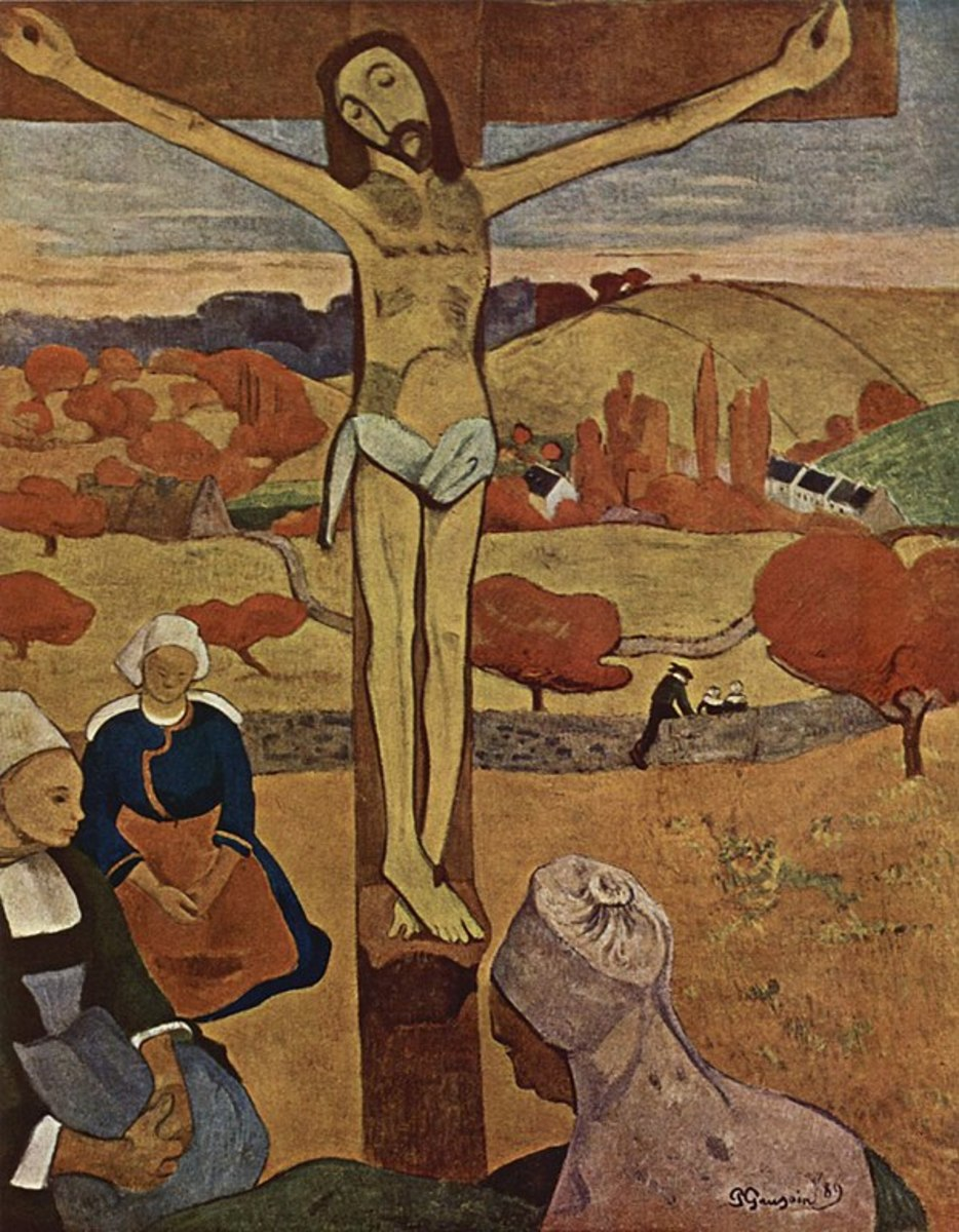 The Yellow Christ by Paul Gauguin 1889  [Public domain Image]