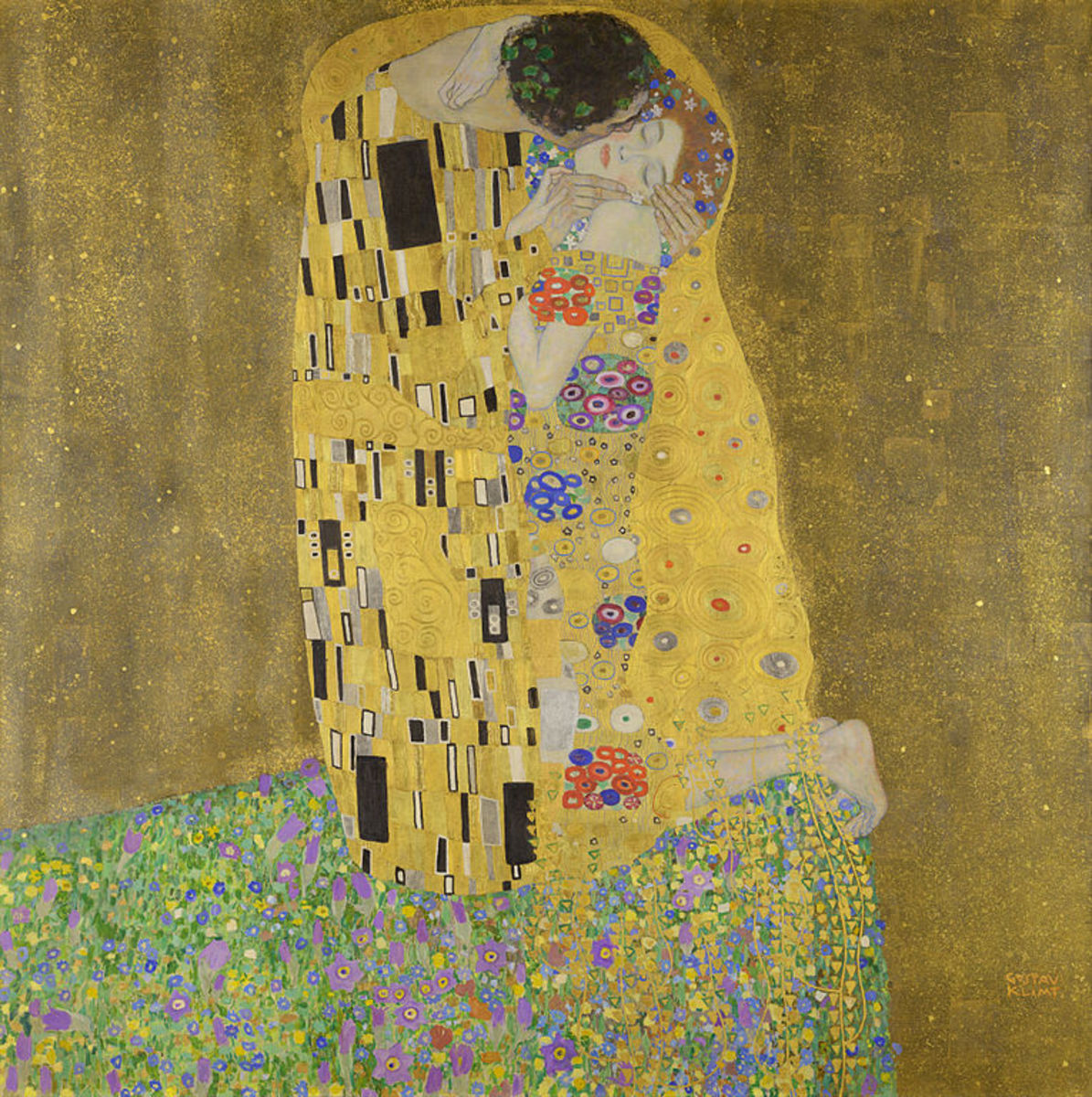 The Kiss Gustav Klimt 1907–1908 [Public domain]