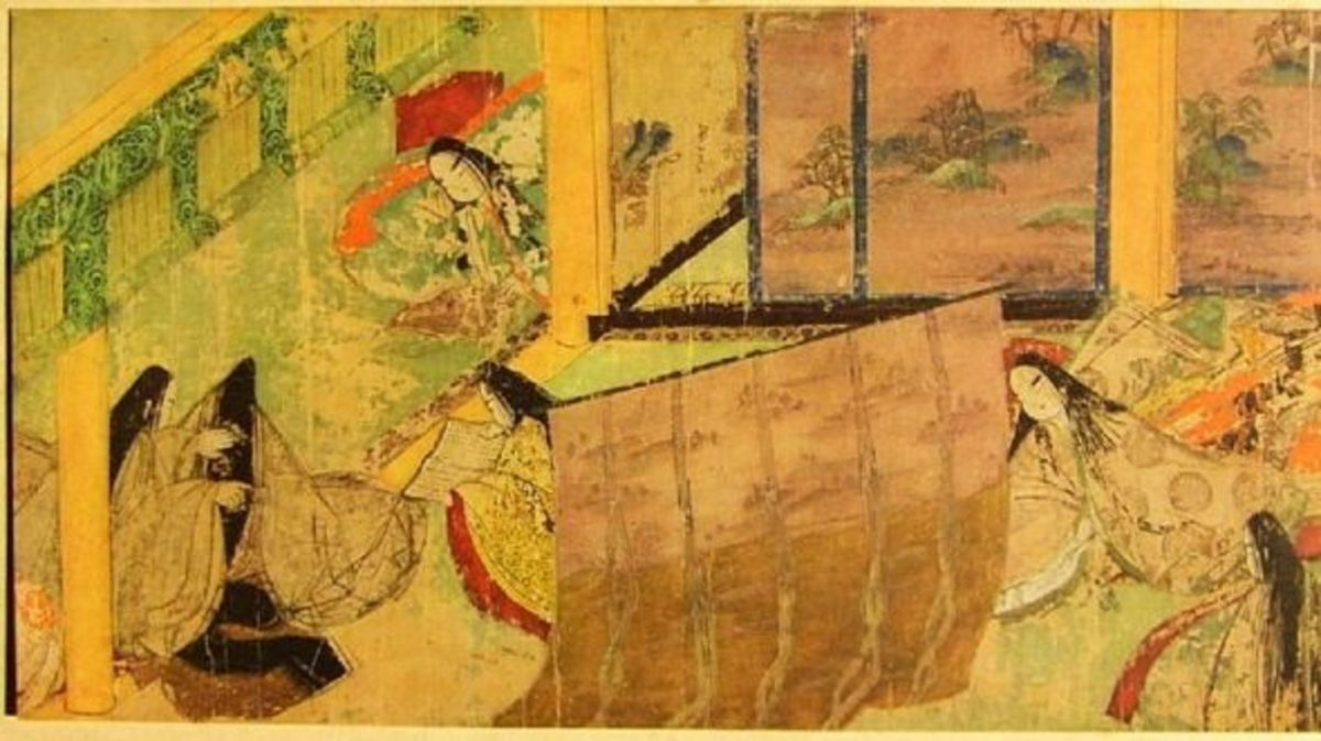 Imperial court in Kyoto. Van Gogh was swept away by Japonisme and Japonaiserie