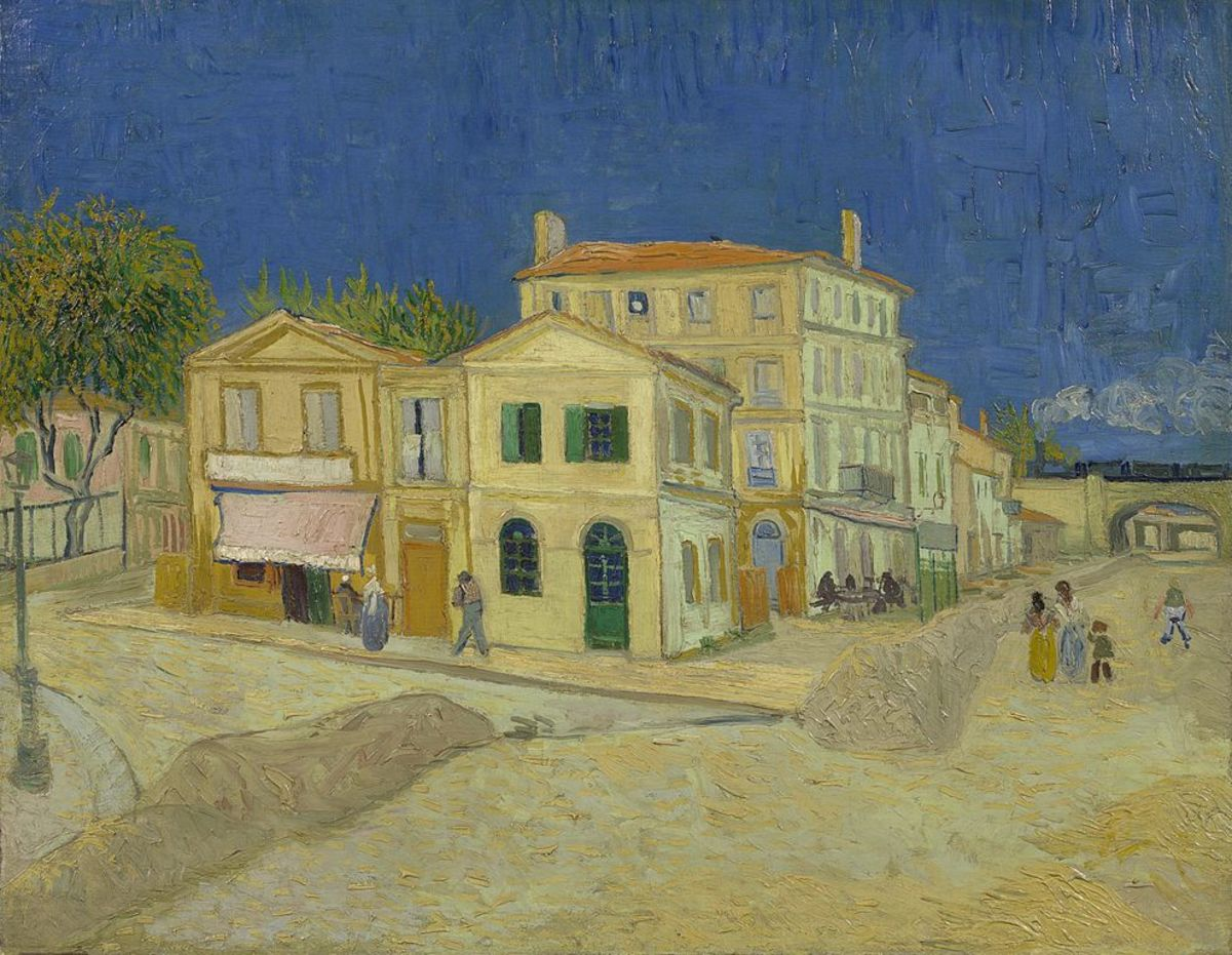 Vincent's house at Arles. 1888 (Now in the Van Gogh Museum, Amsterdam)