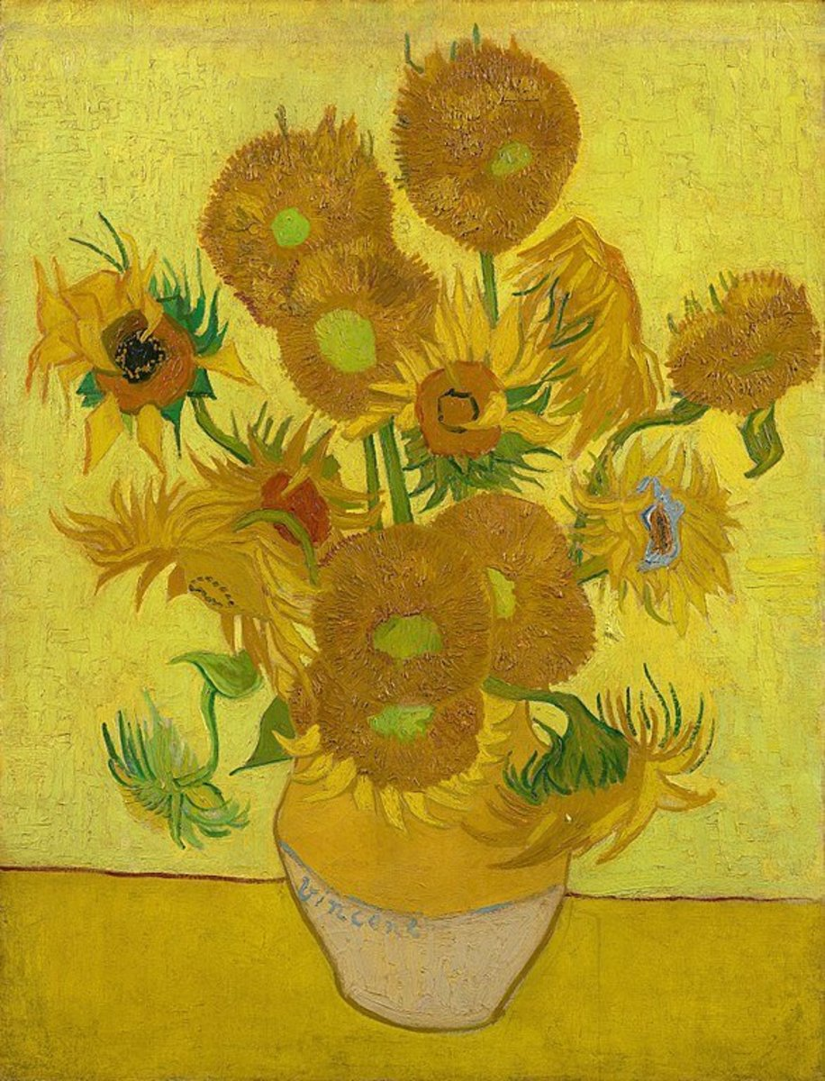 Vincent van Gogh [Public domain] Van Gogh Museum. Some of the most famous paintings in yellow are Van Gogh's Sunflower series