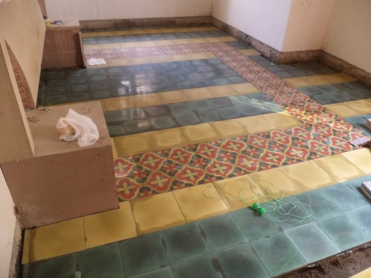 Colourful Athangudi Tiles in my Bedroom