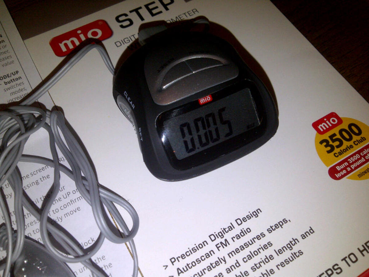 Mio Step2 Pedometer- Measure your walking distance