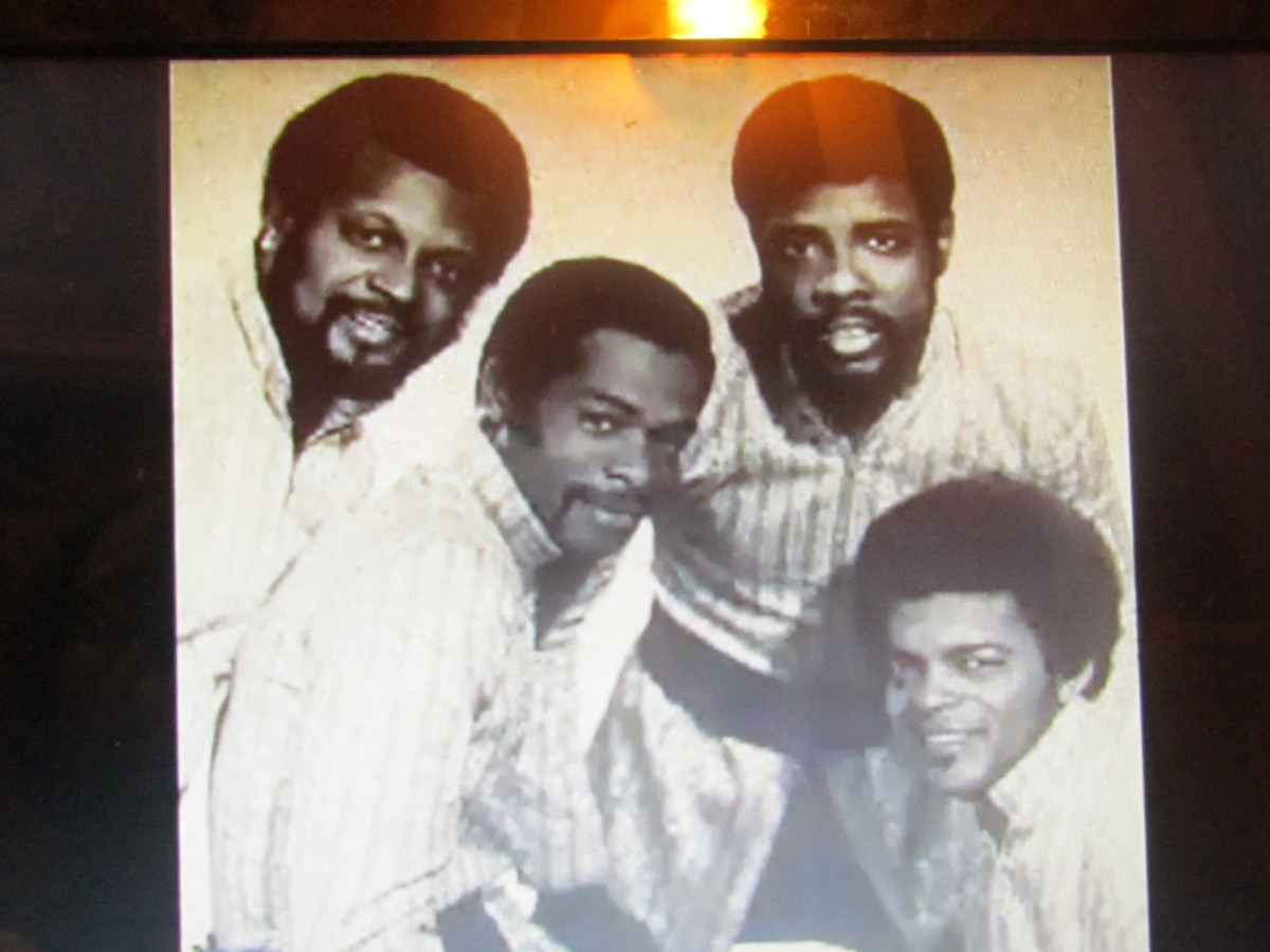 """Photo of the first original group of """"The Intruders"""" who worked with producers Kenny Gamble and Leon Huff to launch Philadelphia International."""