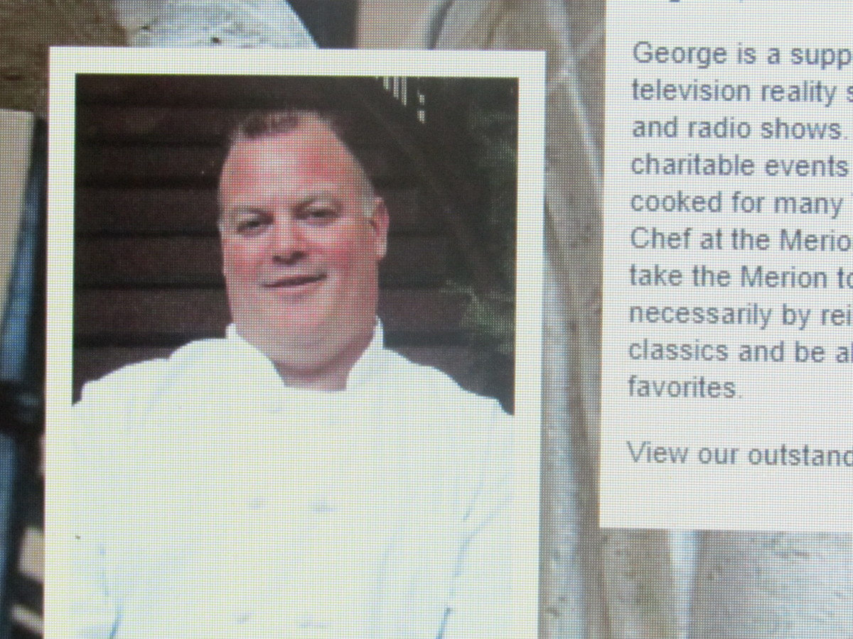 Executive Chef George Kralle from the Food Network, prepares delicious food with a world renown reputation.