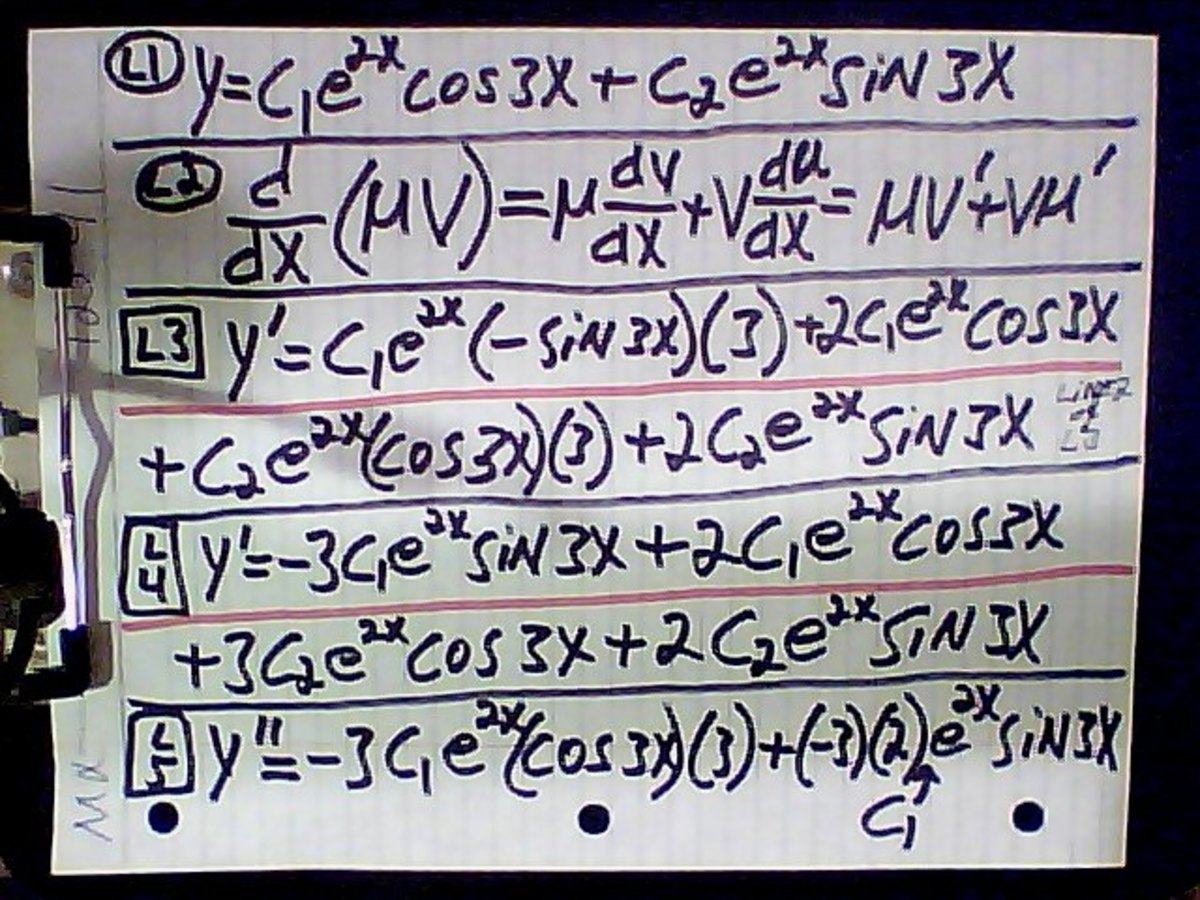 Differential Equations, Part 3: Elimination of Arbitrary Constants with a Single Variable in Two Factors
