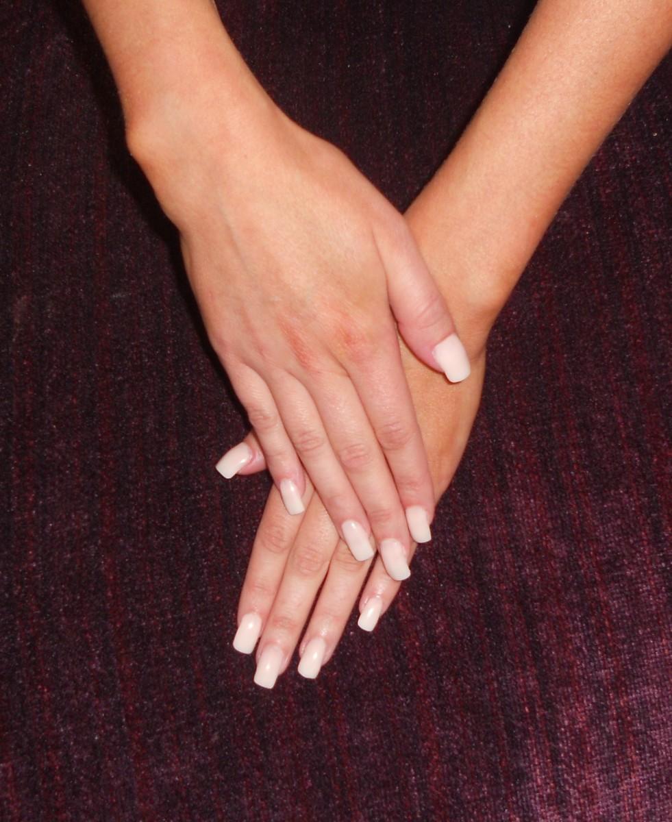 Acrylic Nails. Full Colour. NSI Opaque acrylic powder.