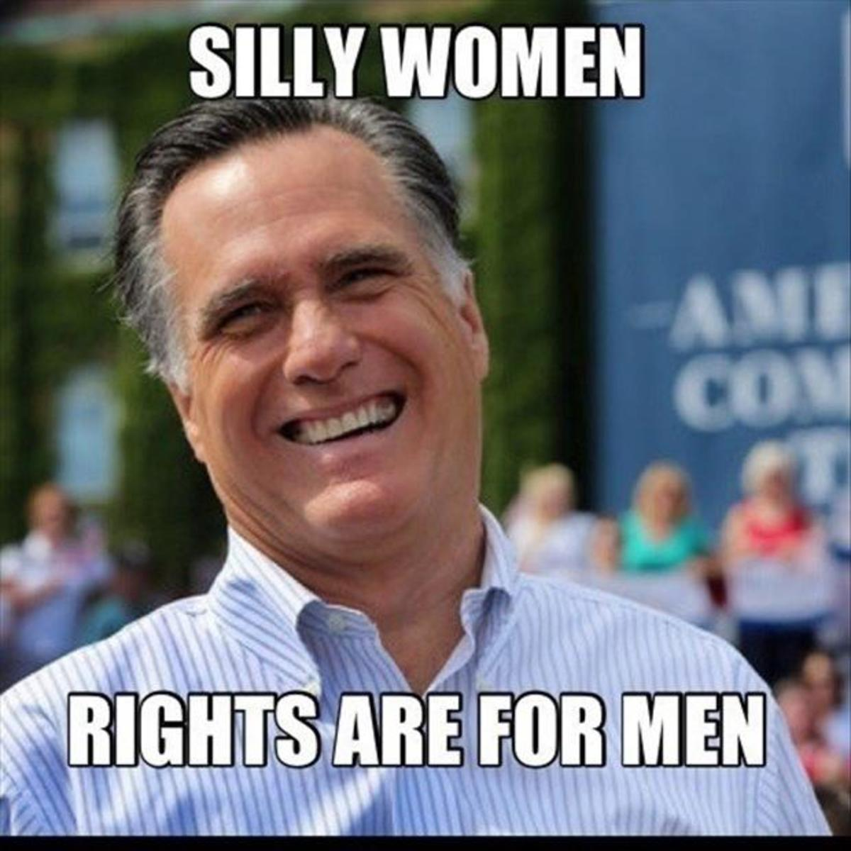 Picture of a man who believes that women are of a surbodinate status and therefore should not have rights