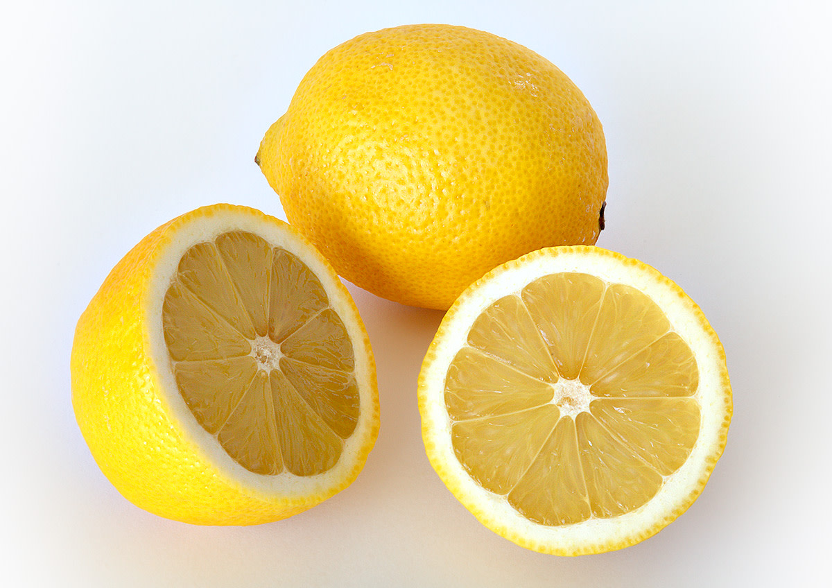 Lemons are acidic.