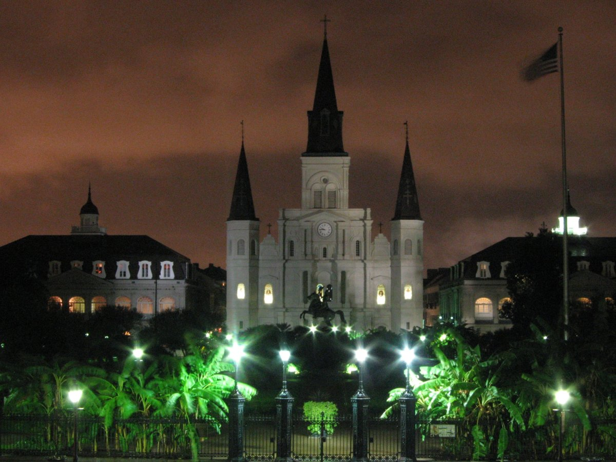 Saint Louis Cathedral, also known as the Basilica of St. Louis, King of France, has the distinction of being the oldest continuously operating cathedral in the United States.