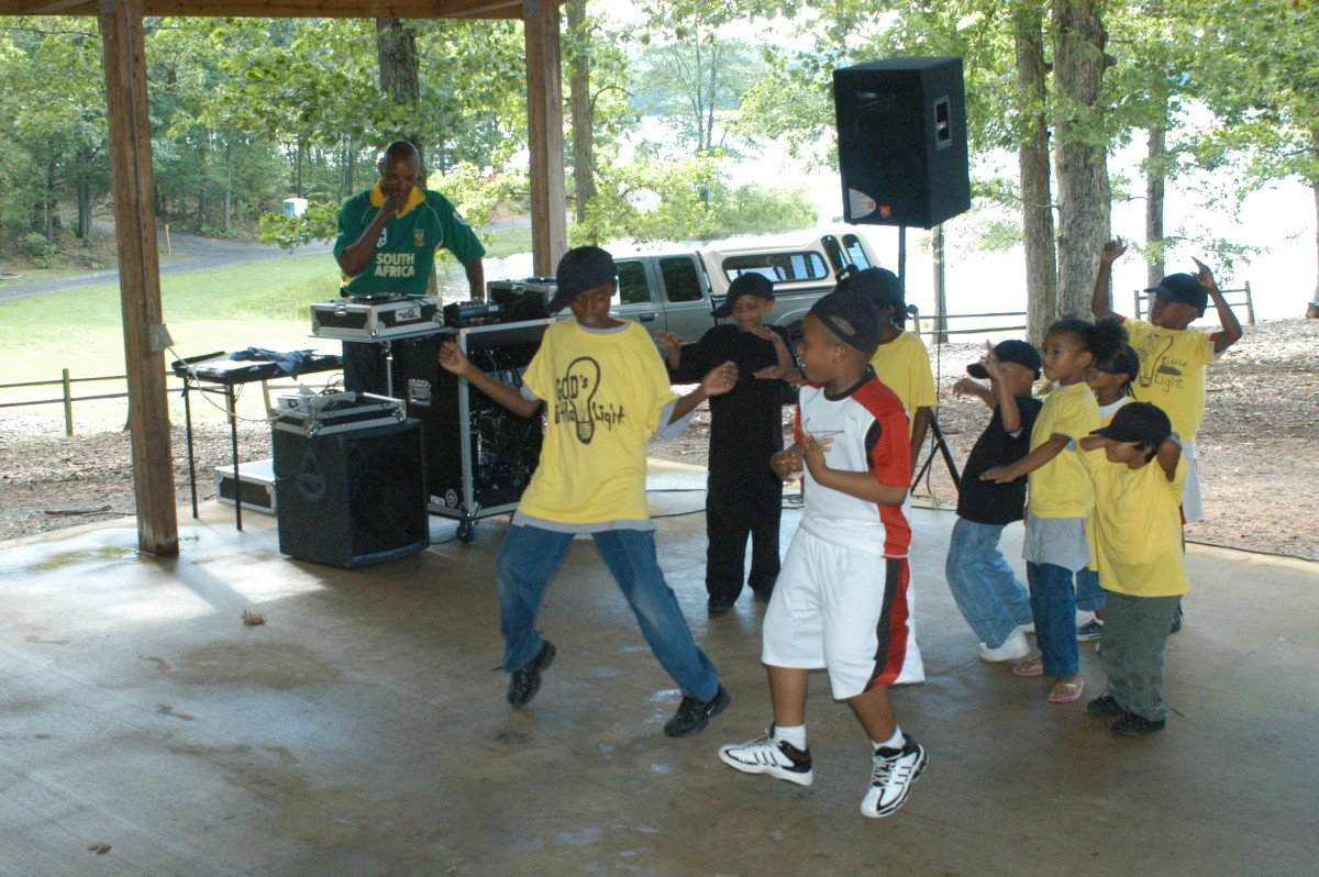 God's Little Lights, children from the Agape Fellowship Church perform a hip hop freestyle routine at the first annual Juneteenth commemoration festival. Held at Lunga Park, June 20, it honored the freeing of last slaves in America.