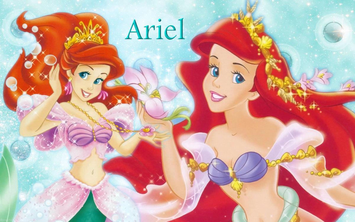 Princess Ariel, the first mermaid princess.