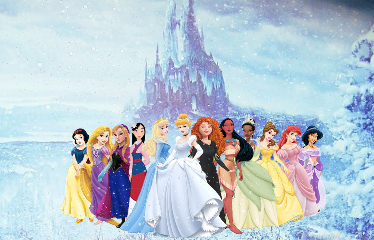 All of the 12 original Disney Princesses in the franchise.