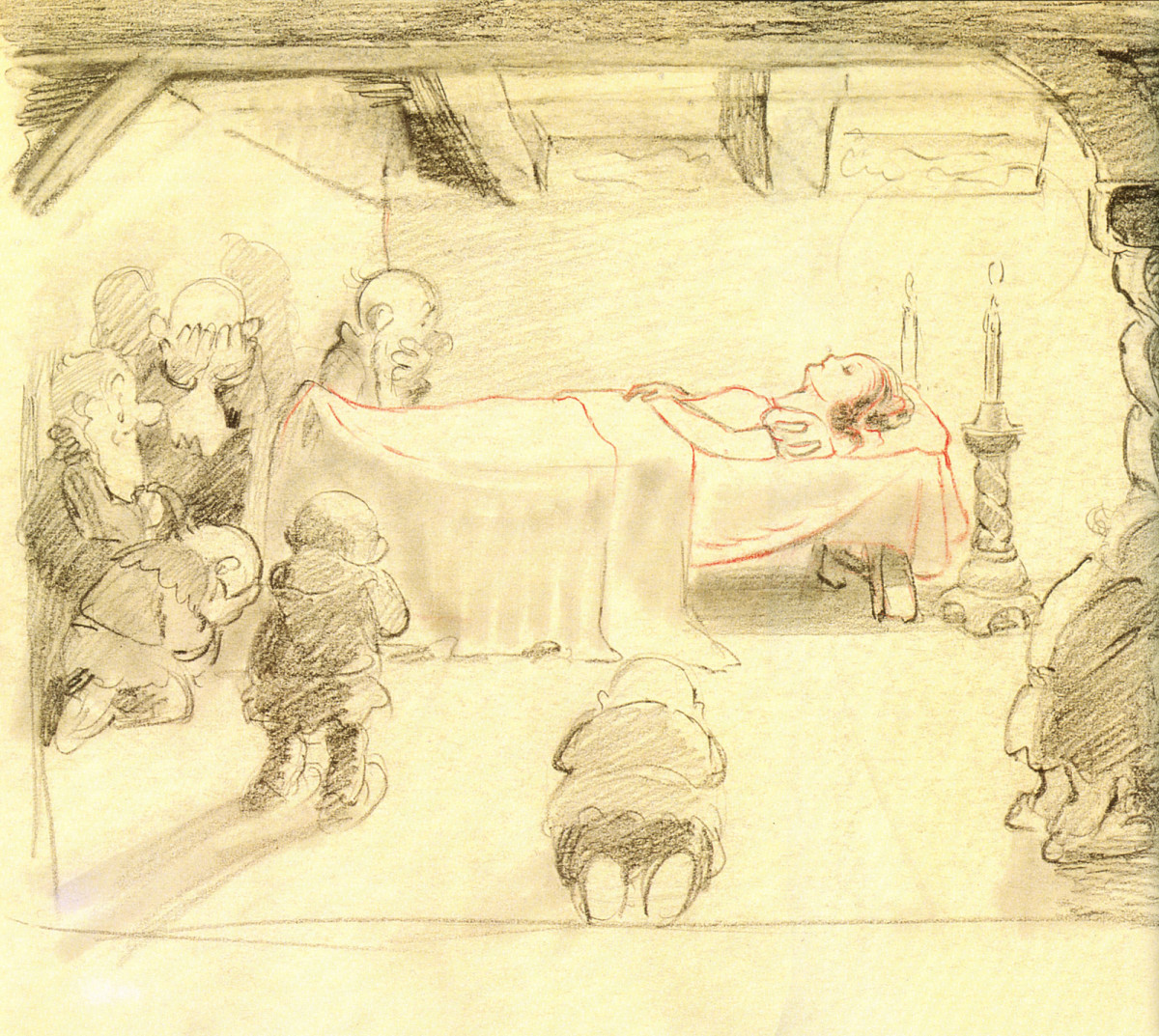 """The Sleeping Death"" sketched scene."