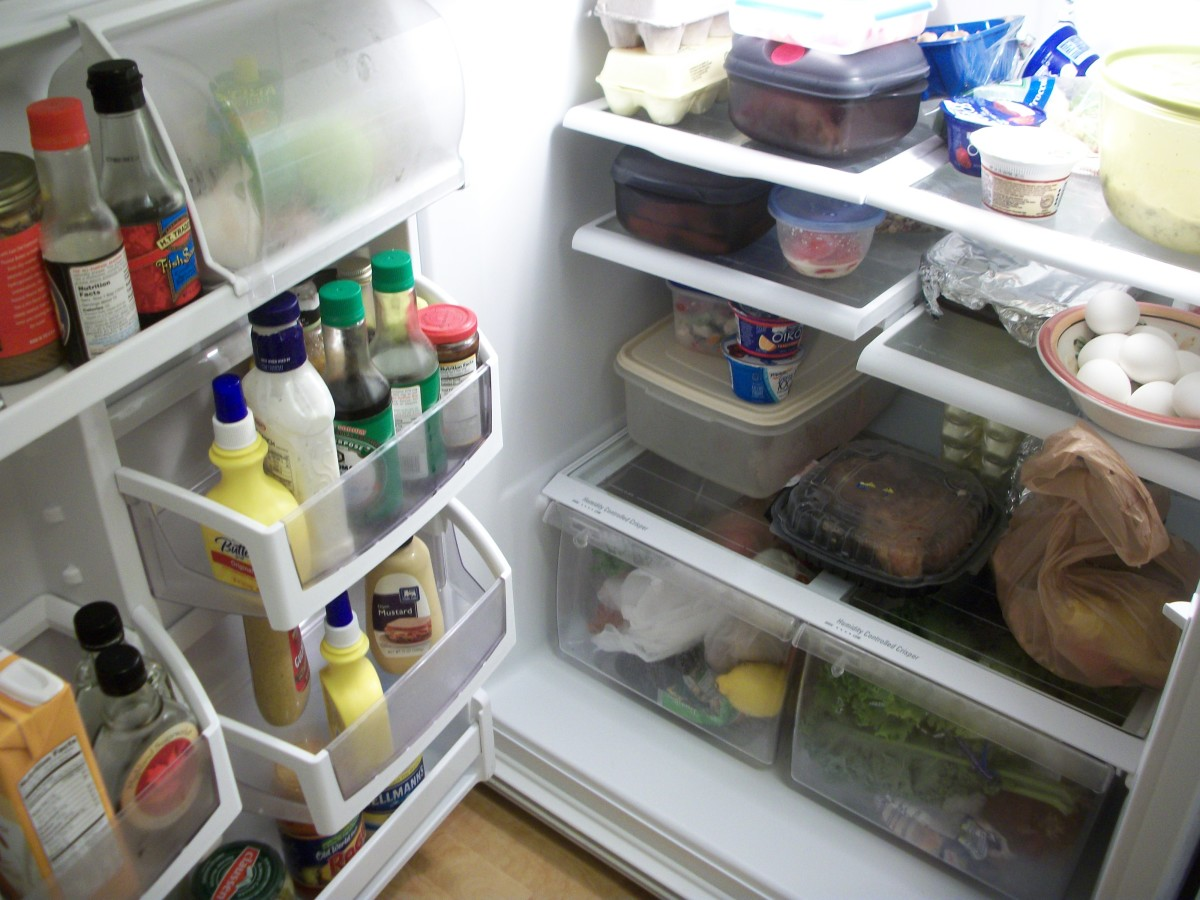 If I do say so myself this is a refrigerator that will need some decluttering and cleaning very soon!