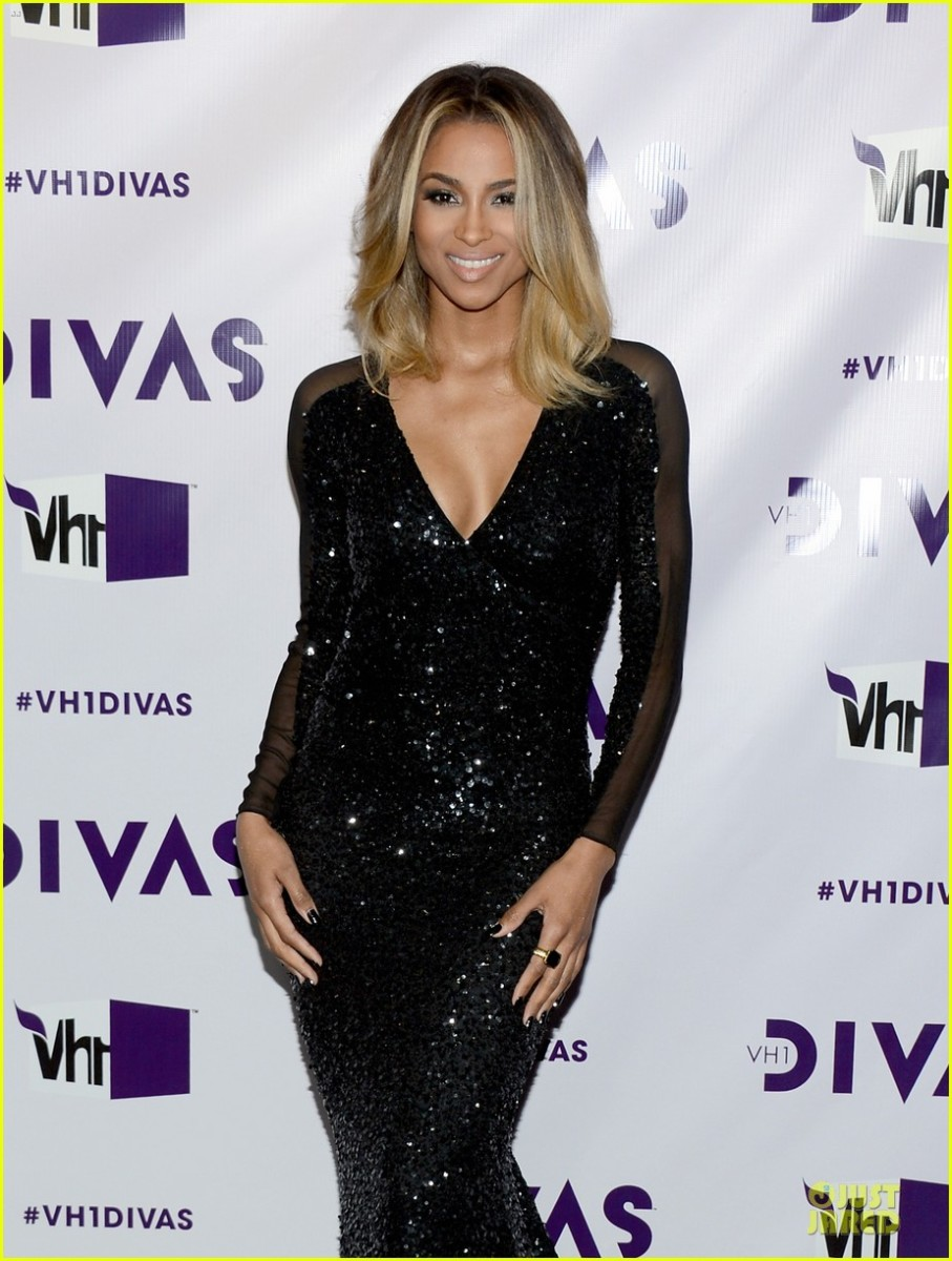 Ciara looks stunning in this sparkling dress