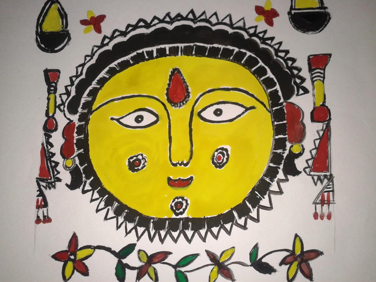 A Madhubani classic - a goddess