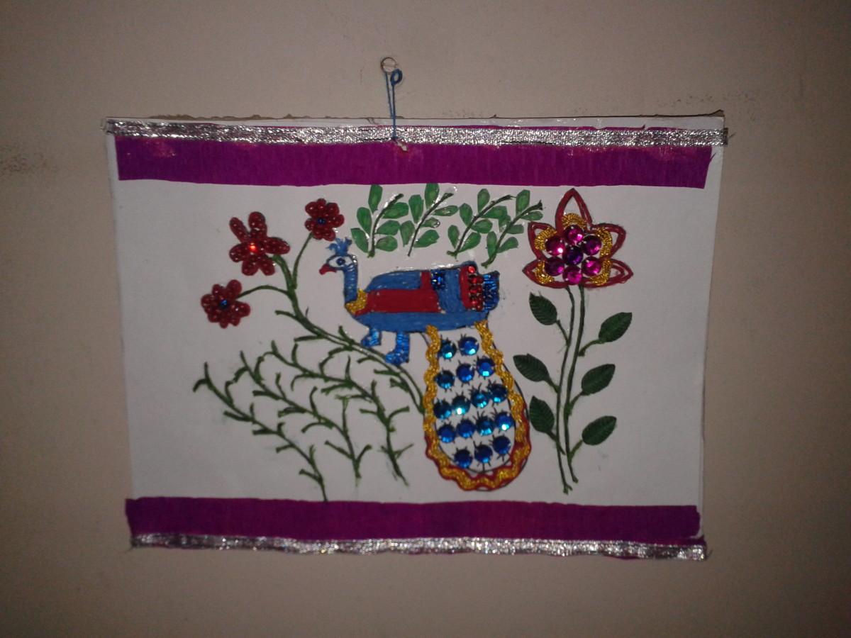 Madhubani wall hanging art