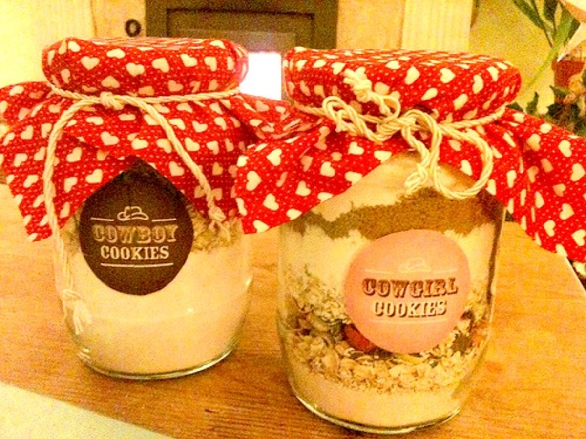 Cookies mix in a jar