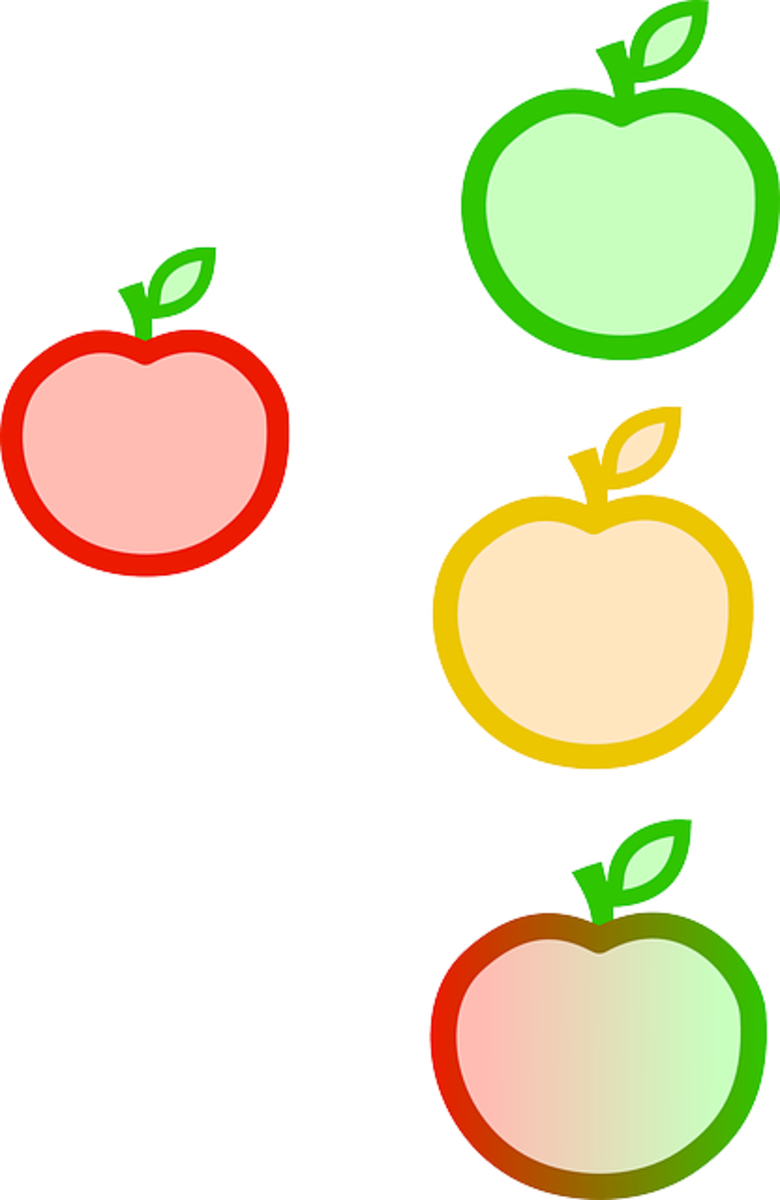 Four Colors of Apples