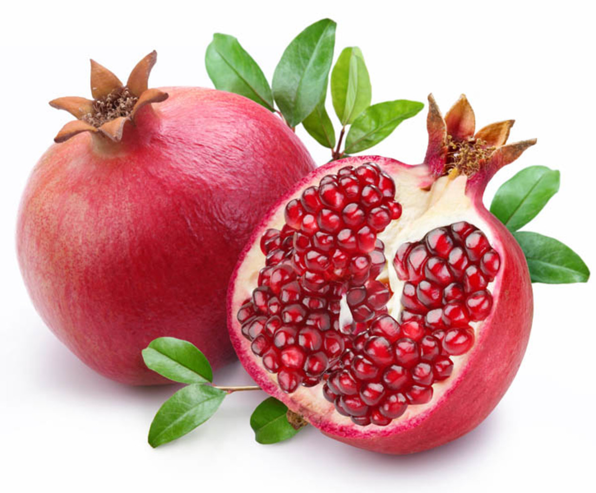 Pomegranate Fruit and Seeds