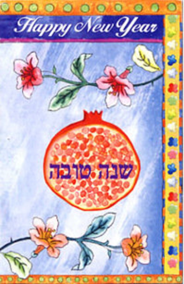 Pomegranate Jewish New Year Greeting Card