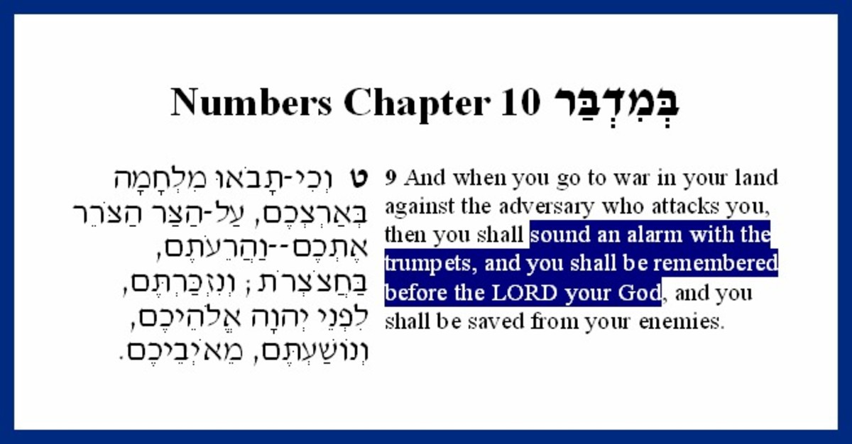 Bible  –  Numbers 10:9