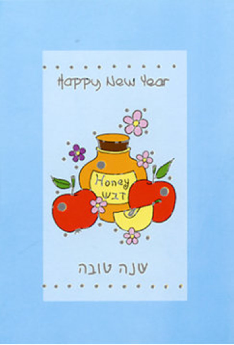 Happy New Year with Apples and Honey