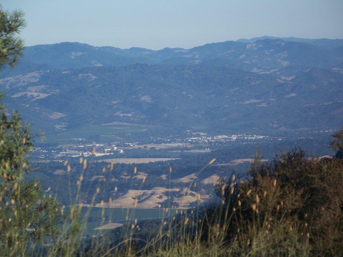 The view of Ukiah, California