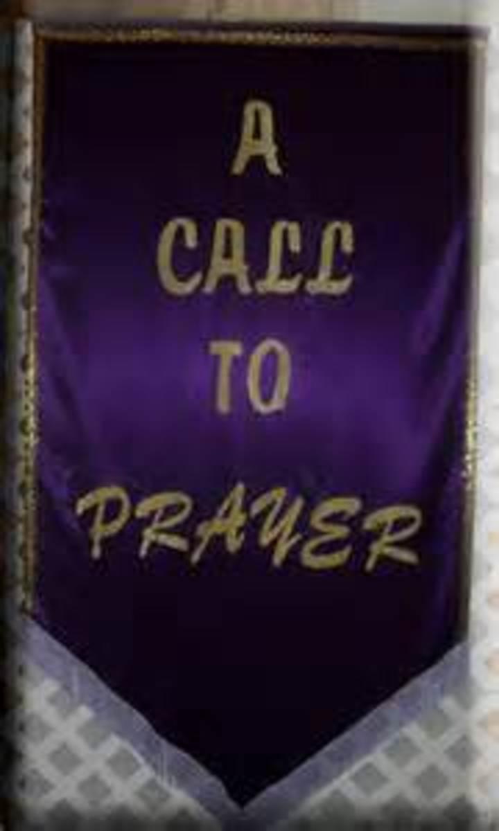 Repentance should precede the call to pray.