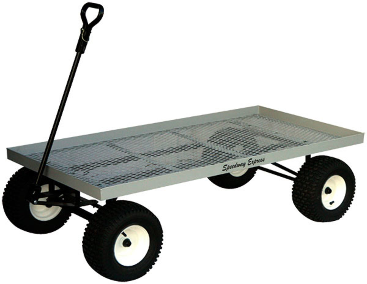 Amish made industrial grade landscape and nursery carts
