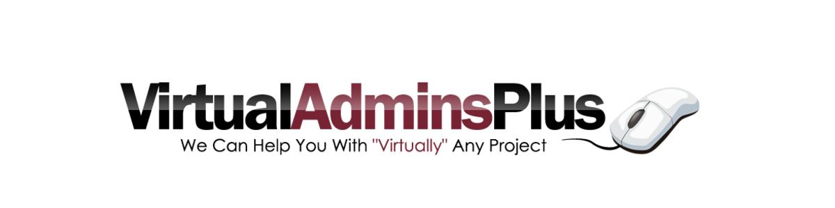 The official logo of VirtualAdminsPlus, a VA business owned by Ann Brown, President.  www.VirtualAdminsPlus.com