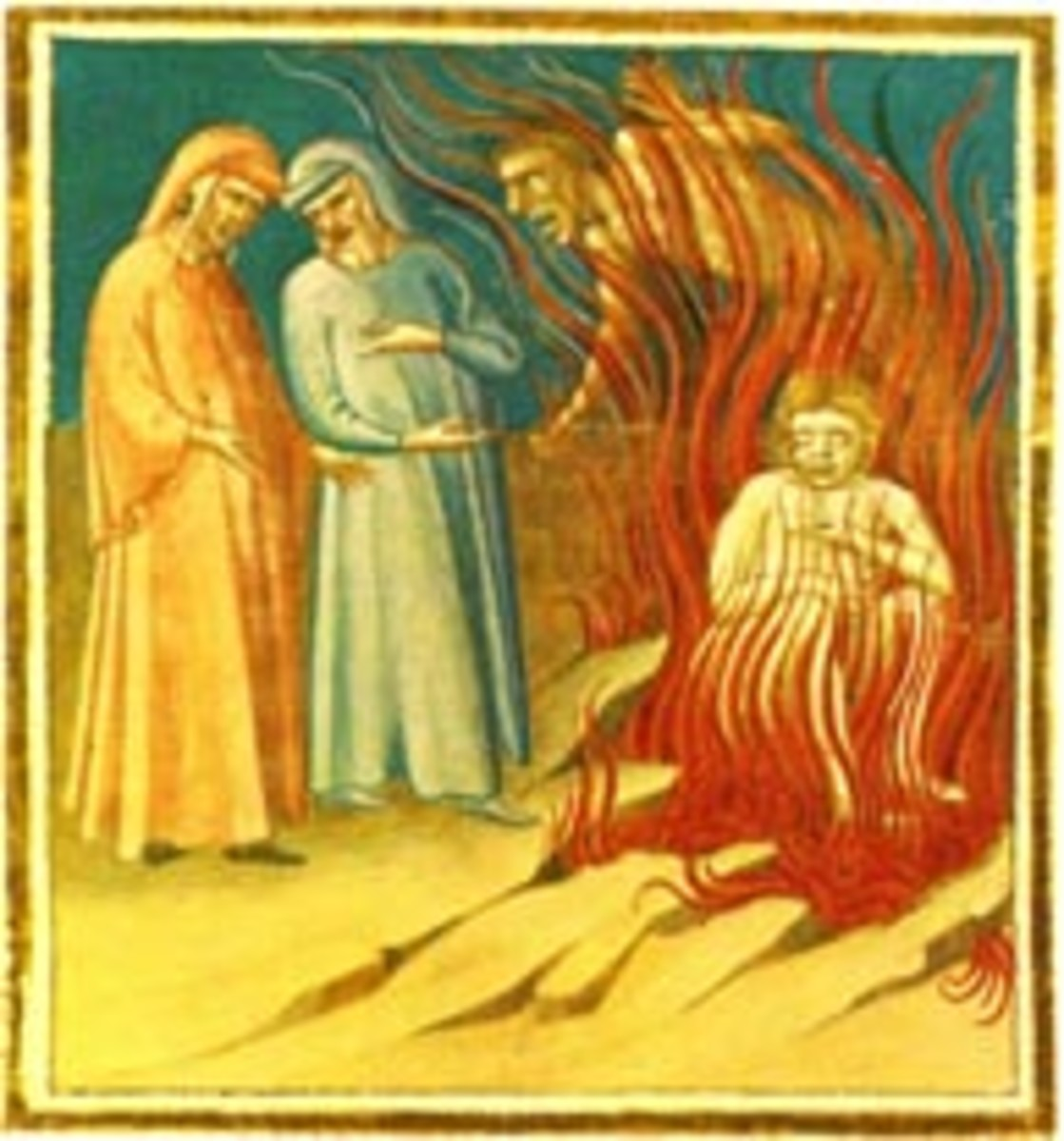 Guido da Montefeltro, Dante and Virgil