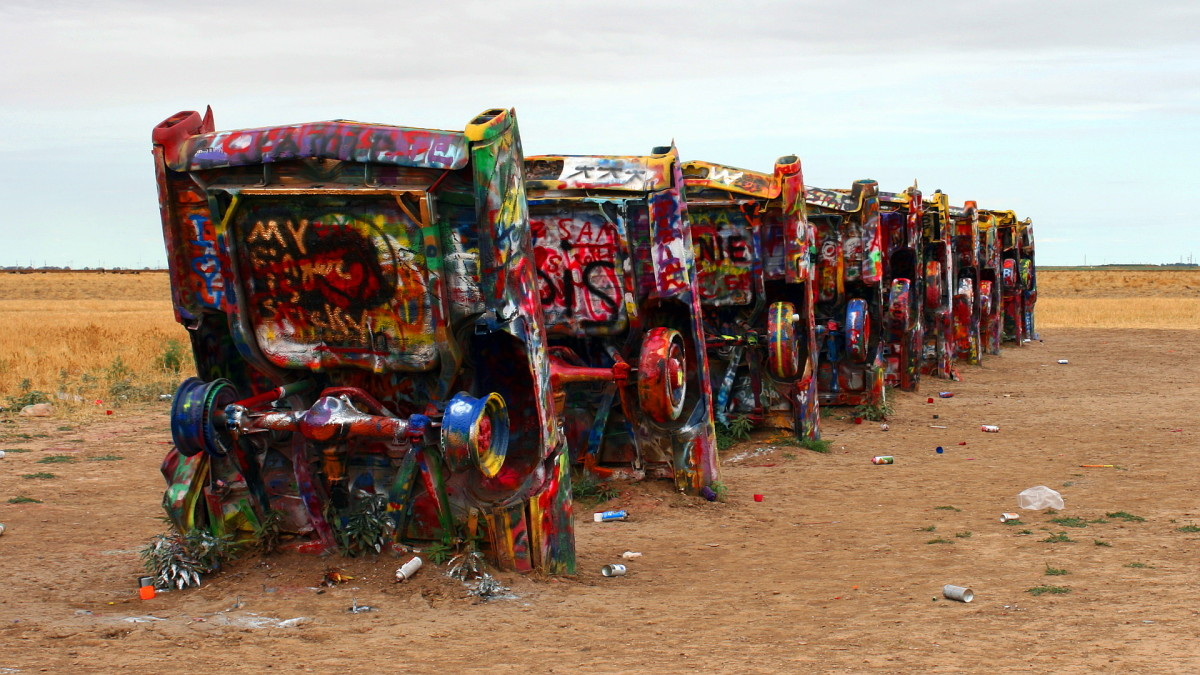 Cadillac Ranch is not a bad stop for road trips on a budget.