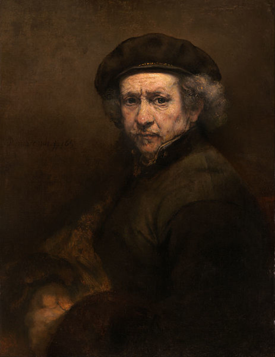 Rembrandt's self-portrait dated 1767