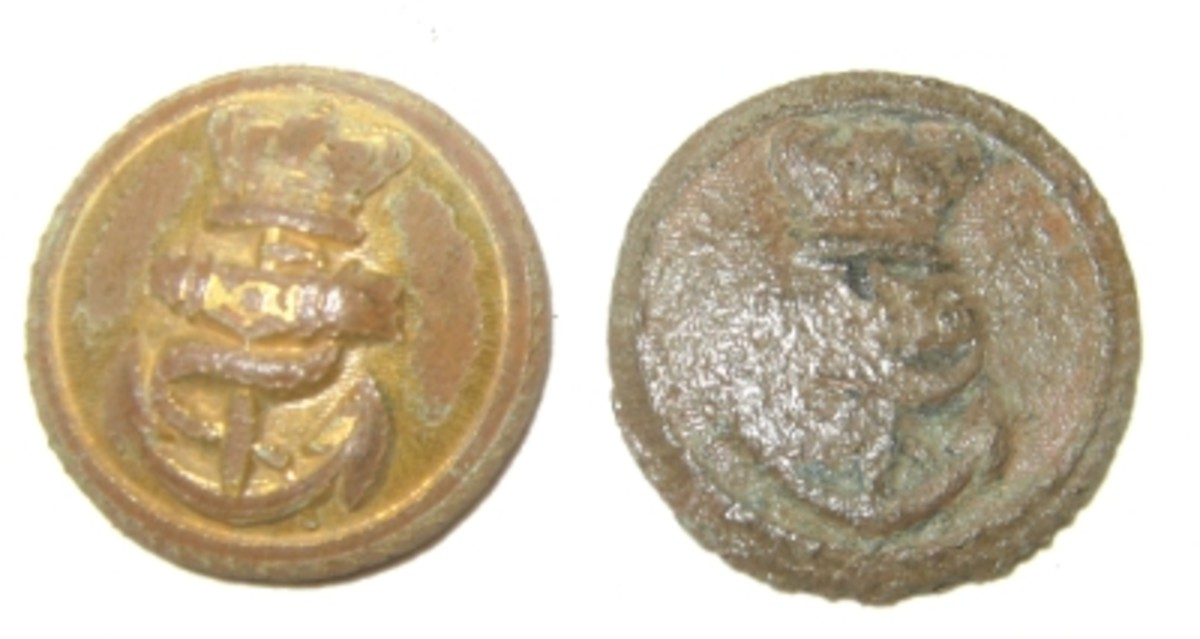 Two naval buttons.