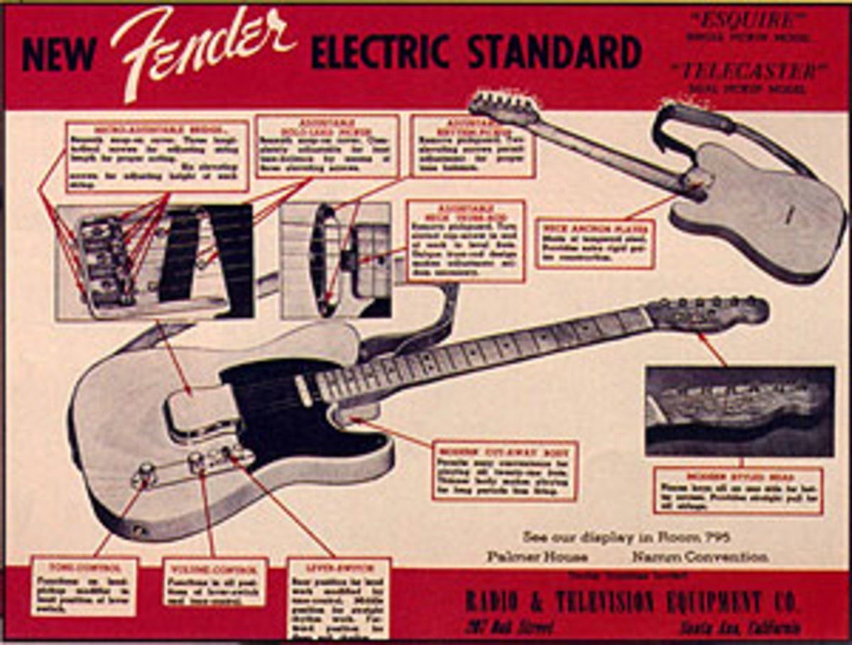 Early Fender Telecaster advertisement