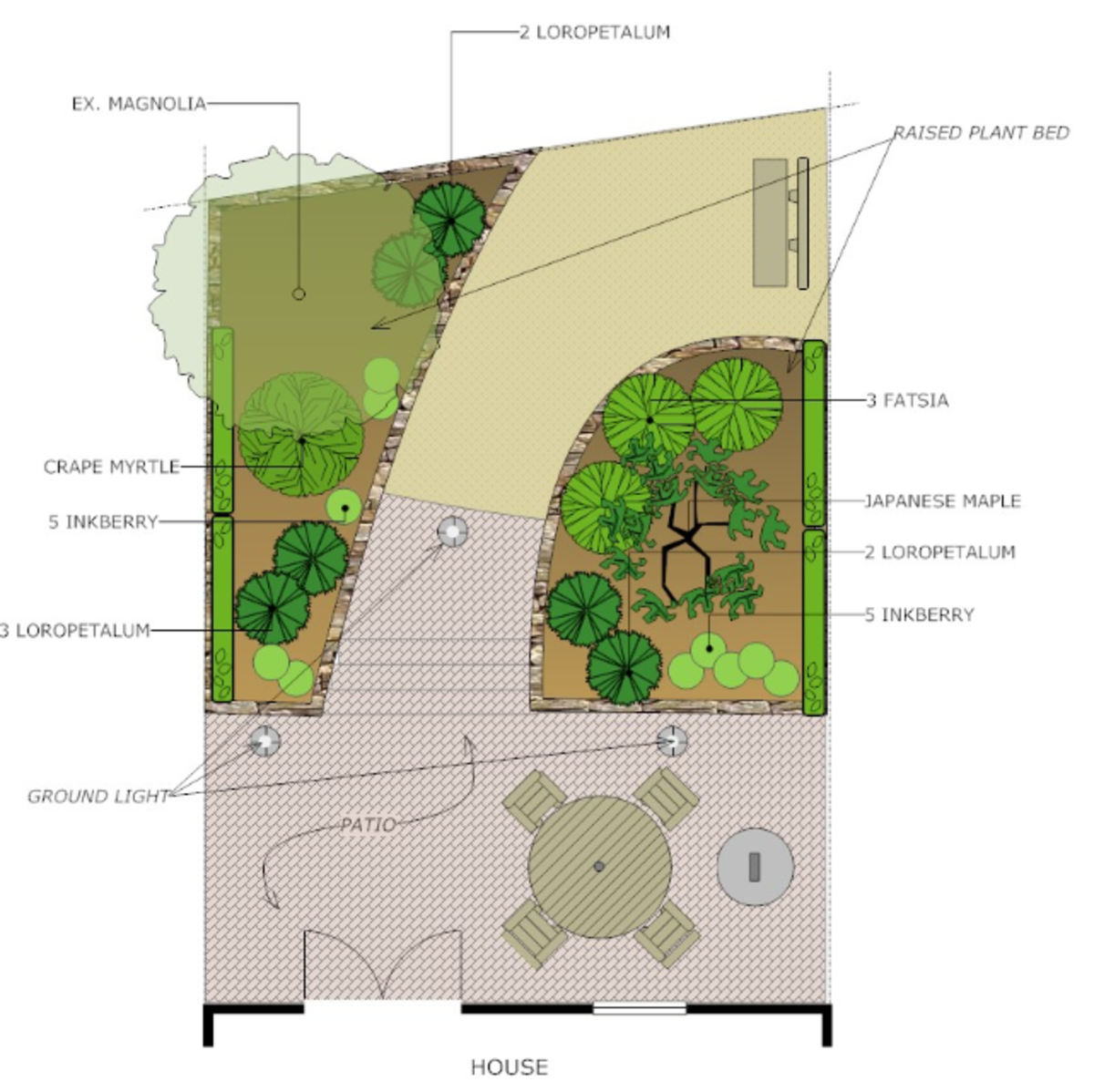 This is a garden landscape plan, available to use with the software.