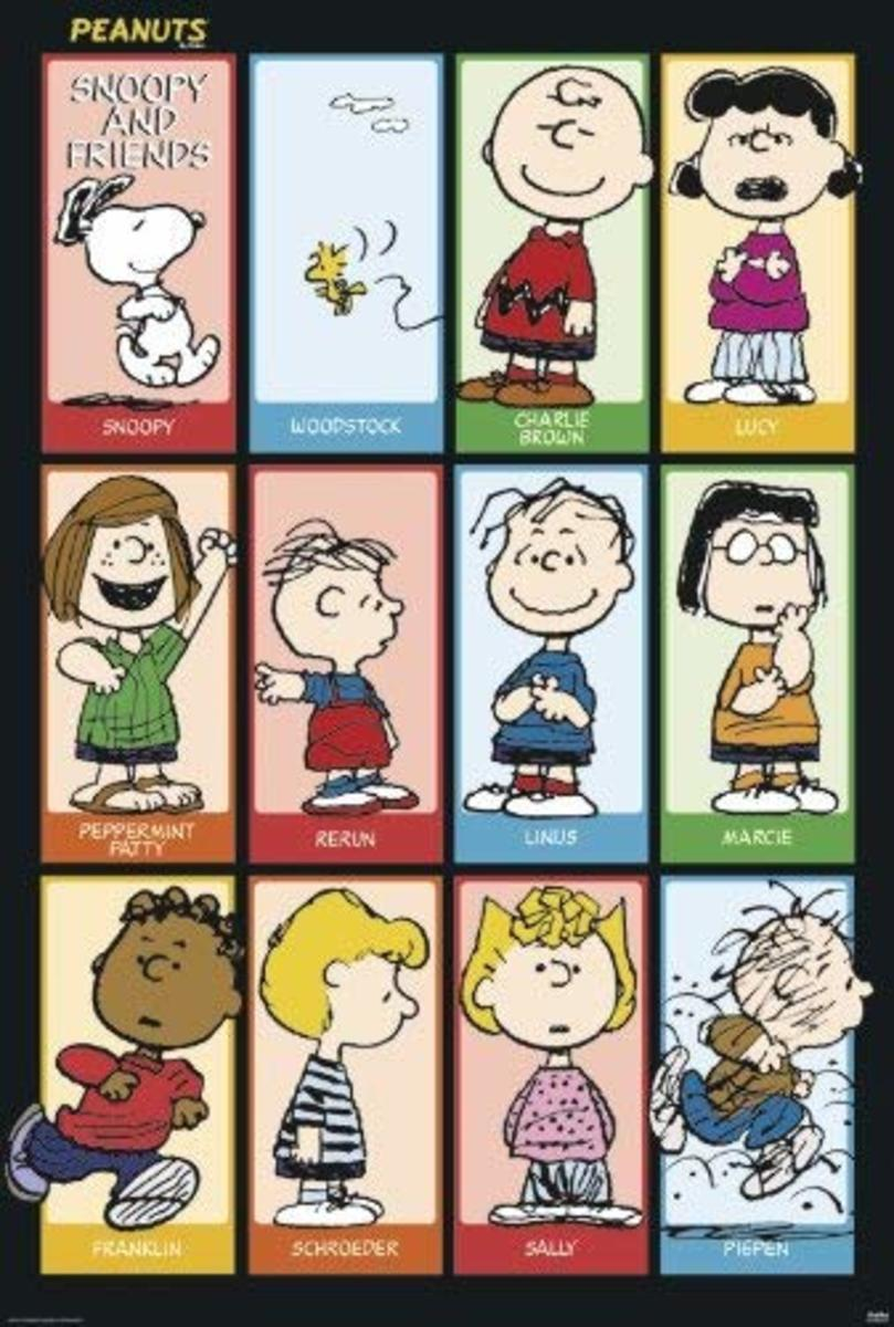 Peanuts - Snoopy & Friends 2 Poster Poster Print, 27x40 is available on Amazon.