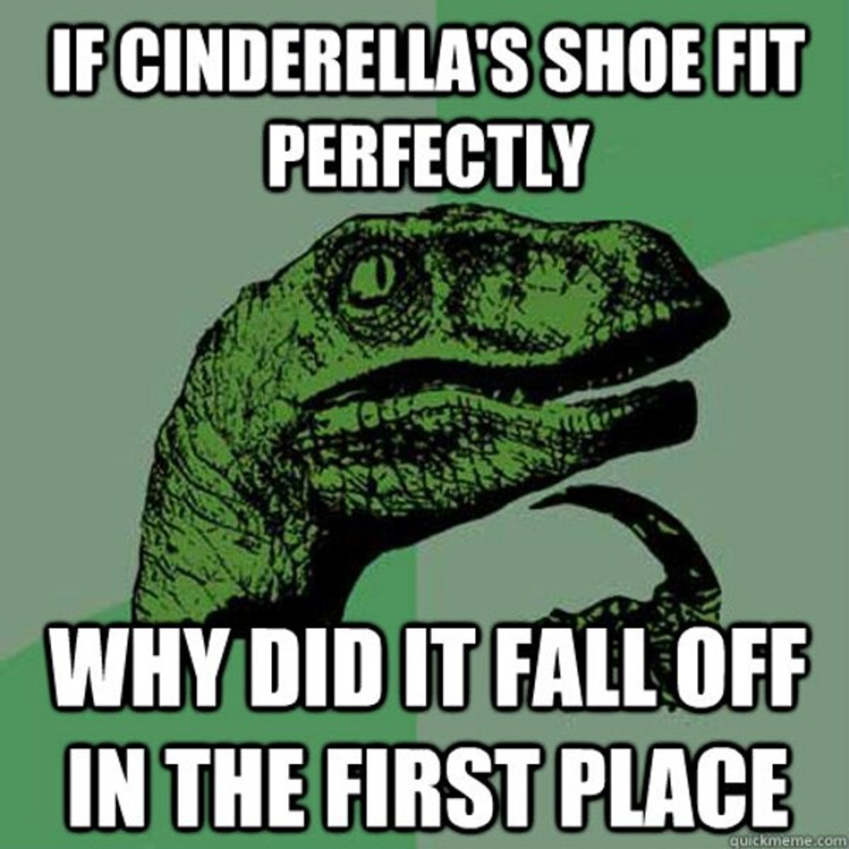 No topic is safe- The 'Philosoraptor 'strikes on shoes'