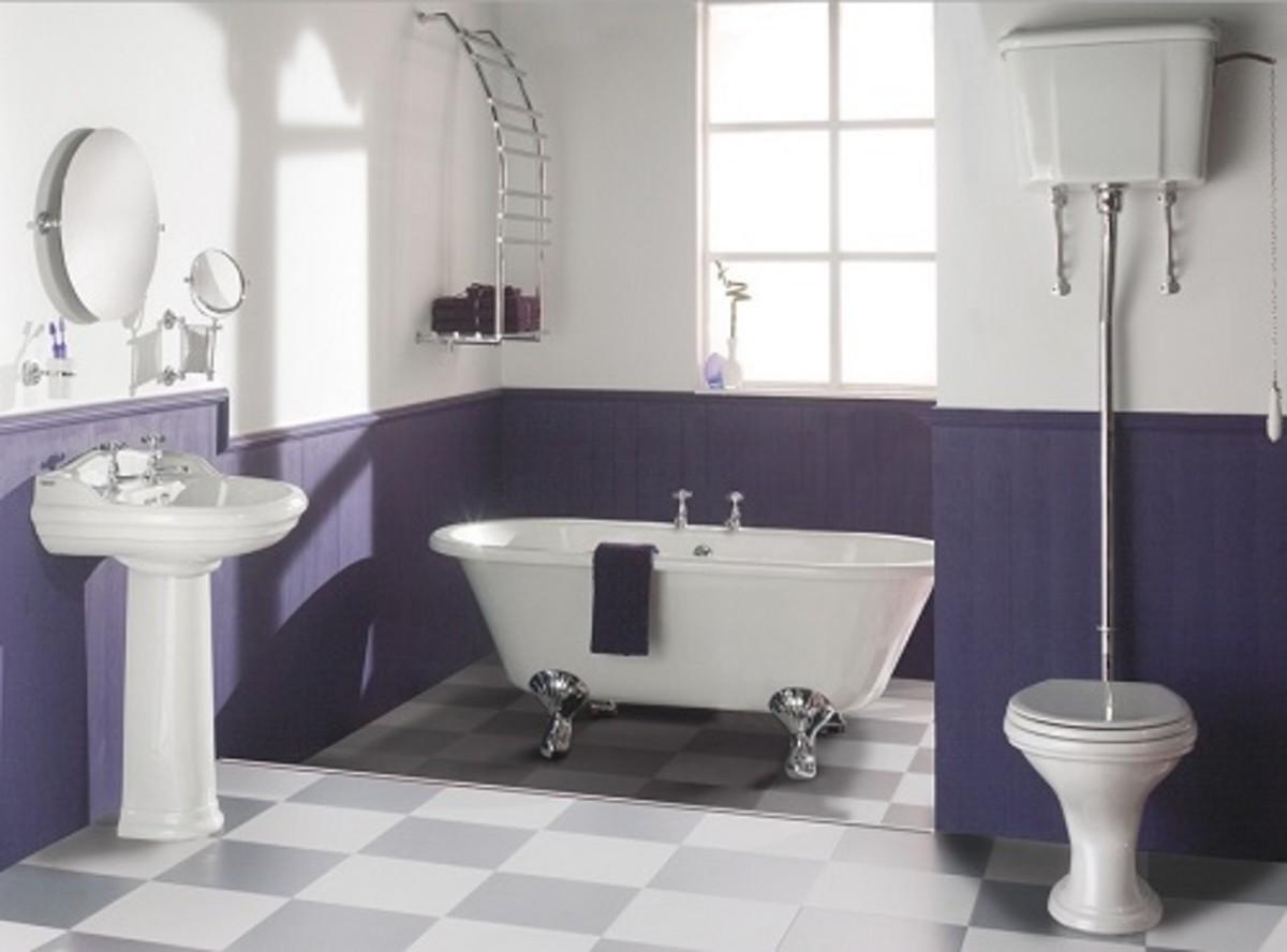 Fabulous Purple Bathroom